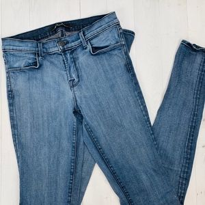 J Brand Stacked Skinny Jeans Mystic Blue Mid Rise